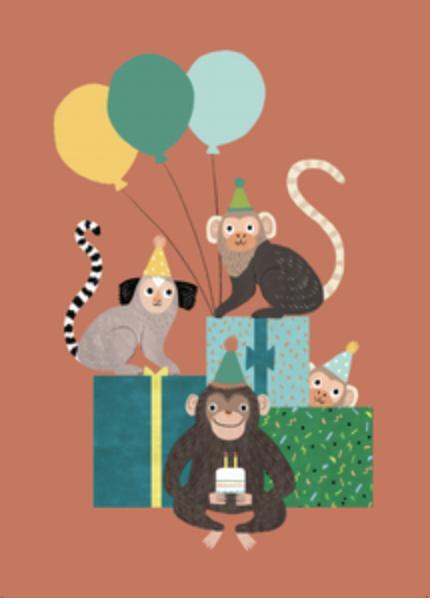 Kaartje Aapjes - Petit Monkey-1