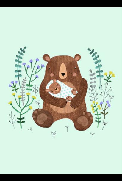 Kaartje Mamabeer Met Baby