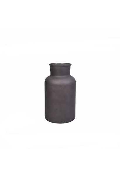 Melkfles Zwart Mat Large