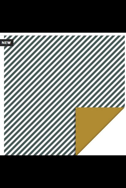 Wrapping Paper Strips Diagonal Petrol