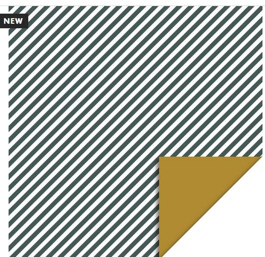 Inpakpapier Stripes Diagonal Petrol - House Of Products-1