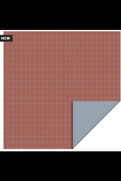 Inpakpapier Grid Warm Red