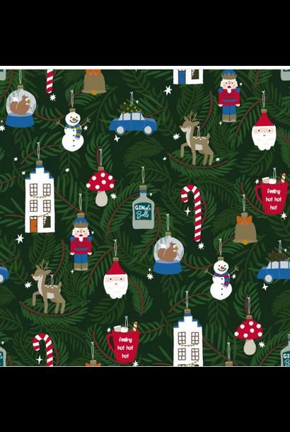 Inpakpapier X-Mas Ornaments