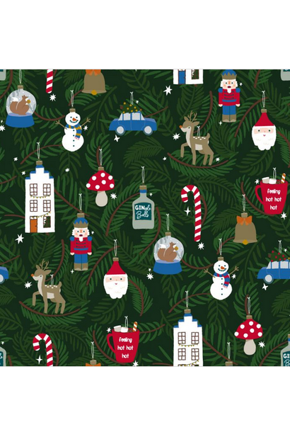 Wrapping Paper X-Mas Ornaments