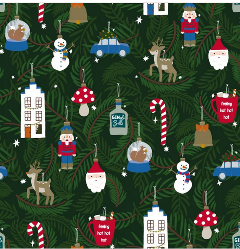 Inpakpapier X-Mas Ornaments - House Of Products-1