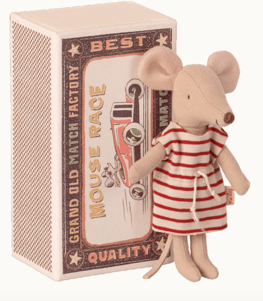 Big Sister Mouse In MatchBox - Maileg-1