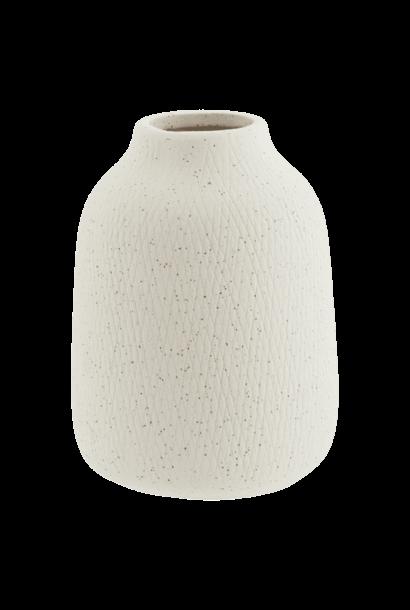 Vaasje Stoneware Wit Spikkels