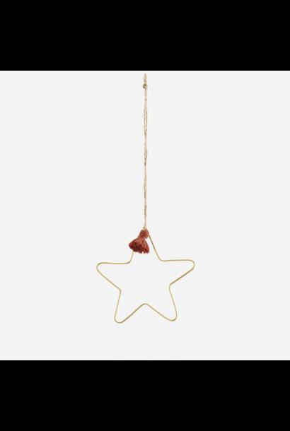 Kersthanger Ster Met Kwast