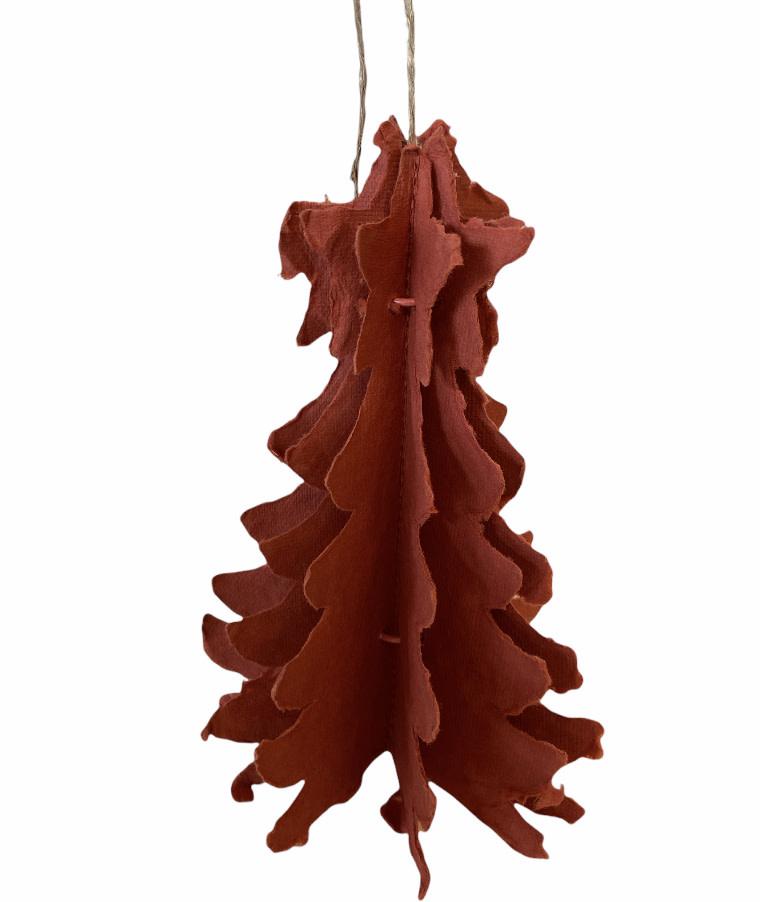 Kersthanger Papieren Kerstboom Rood - Madam Stoltz-1
