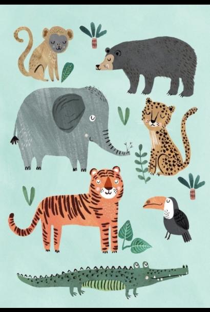 Kaartje Wild Animals