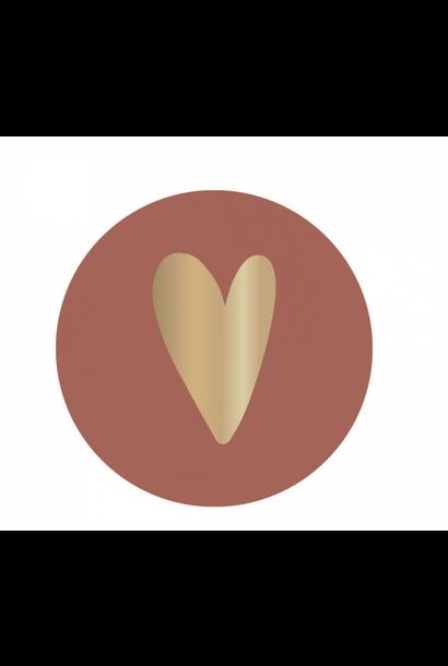 Stickervel Hart - Taupe