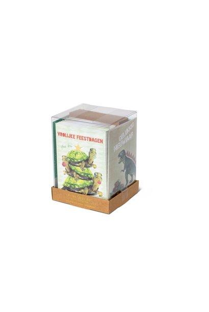 Kerstkaart Bestie Box Groen - 20 Stuks
