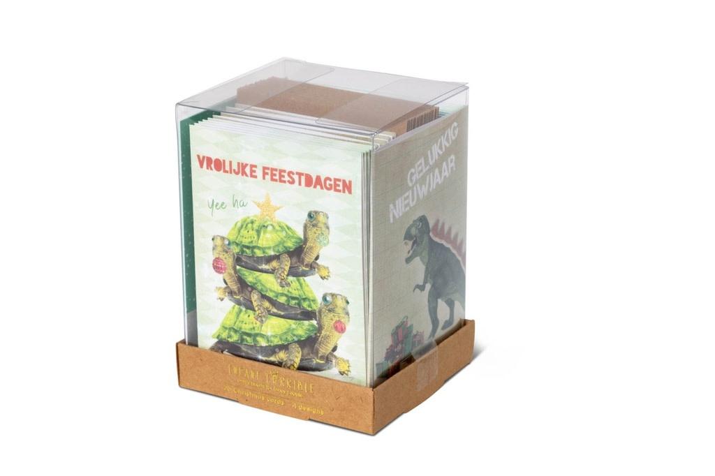Kerstkaart Bestie Box Groen - 20 Stuks - Enfant Terrible-1