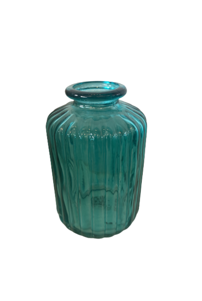 Vaasje Rib Turquoise
