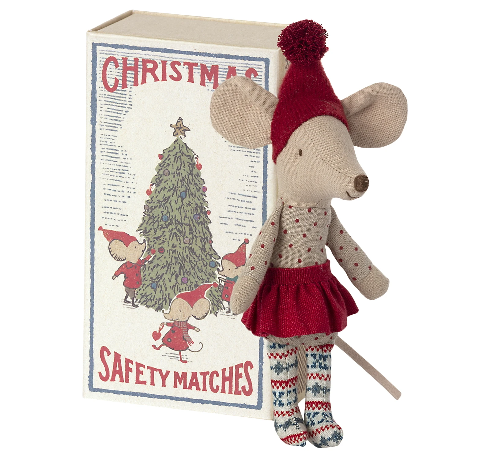 Christmas Big Sister Mouse In Box - Maileg-1