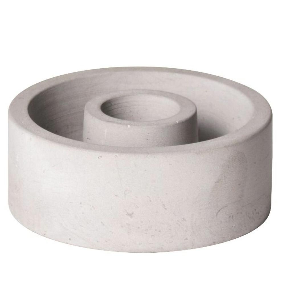 Kaarsenhouder Cement - Medium - Gusta-1