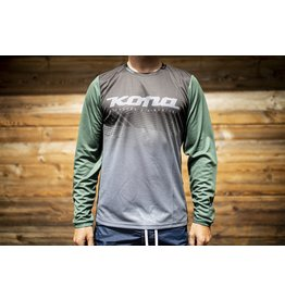 Kona Mens Custom Jersey Long Sleeve Green