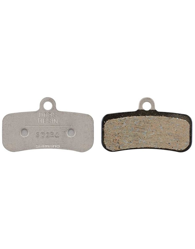 Shimano D03S disc brake pads and spring, steel backed, resin