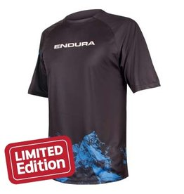Endura SingleTrack Print T Mountains Navy Medium