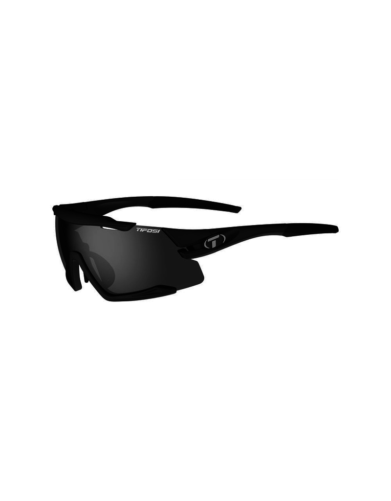 Tifosi Aethon, Matte Black Interchangeable Sunglasses Smoke/AC Red/Clear
