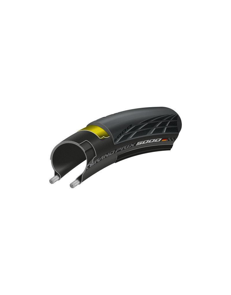 Continental TYRE Con GP5000 700x25 BK Black 700 x 25c foldable blackchili