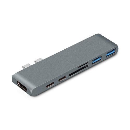 USB-C Hub 7-in-1 - Zilver & Space Gray