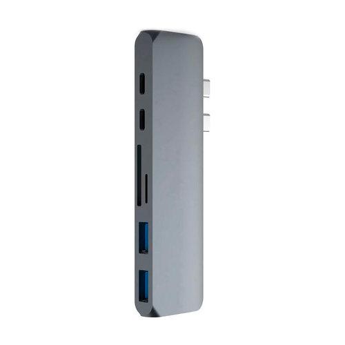 USB-C Hub 7-in-1 voor MacBook Pro & MacBook Air - Zilver & Space Gray