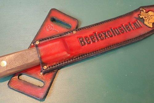 Custom Made Old Hickory Butcher Knife meshouder voorzien van jouw naam