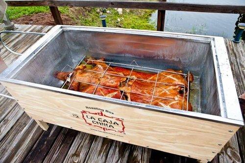 La Caja China roasting box weekend verhuur