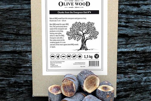 Smokey Olive Wood Steeneik chunks Nº4