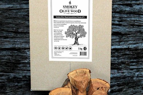 Smokey Olive Wood Amandelhout Chunks Nº5