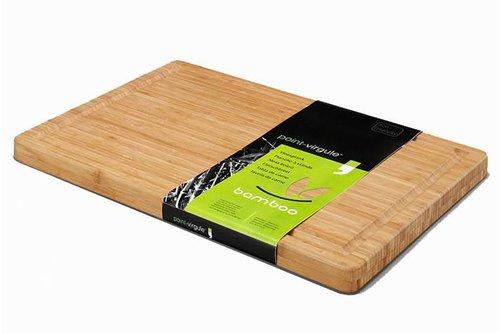 Point - Virgule Bamboo Vleesplank Met Sapgeul, 40x30x3cm