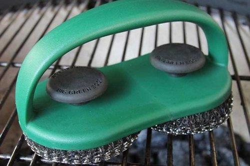 Big Green Egg Dual brush grid en pizza stone scrubber