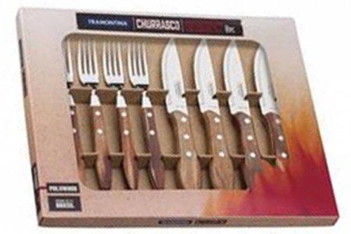 Tramontina Churrasco 8 delig bestekset jumbo steakmessen -en vorken