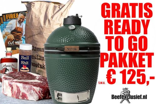 Big Green Egg GRATIS READY TO GO PAKKET t.w.v. €125,- bij  BGE medium