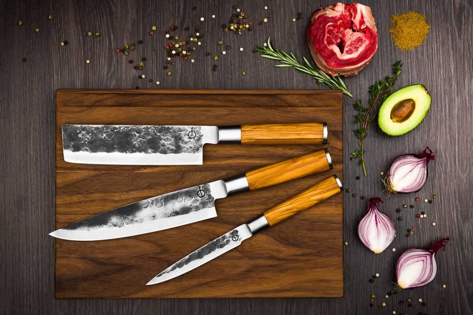 Olive Forged 3 delige messenset