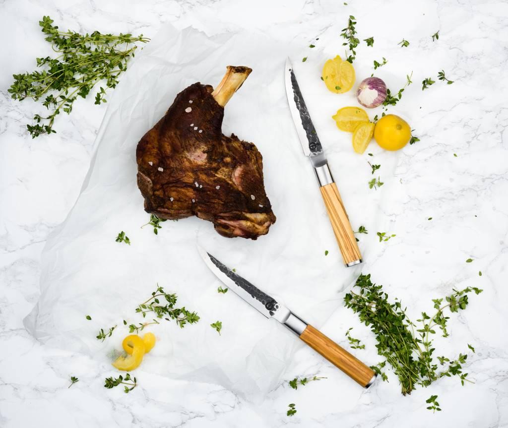 Olive Forged 4 delige steakmessenset
