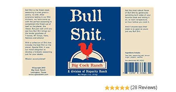 Big Cock Ranch Bull Shit steak rub