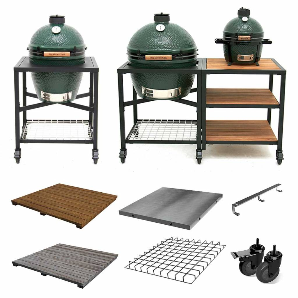 Big Green Egg Modulair nest systeem - Wielenset (2 st.)