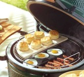 Big Green Egg Perforated half grid  - Eggspander kit
