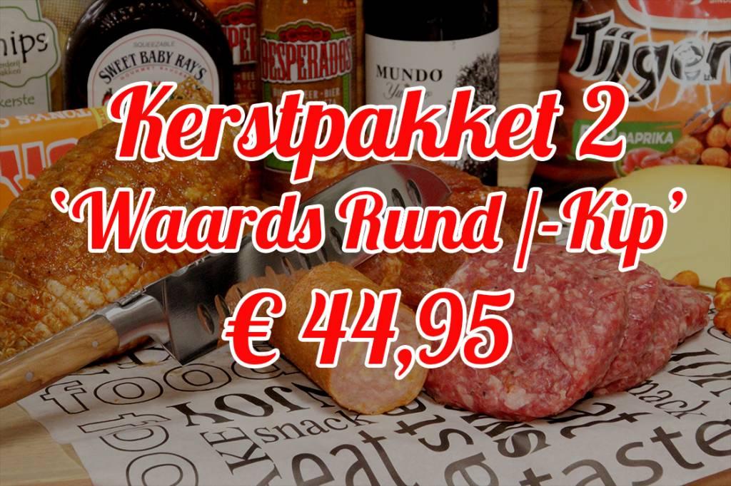 Aaibaar Vlees Kerstpakket 2 Waardse Rund / Kip