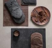 Stuff Design Lederen bbq handschoen of ovenwant