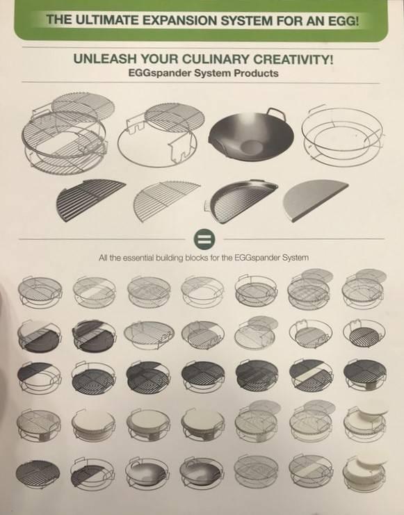Big Green Egg 2 delig multi level rack - Eggspander kit