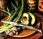 Laguiole style de vie Inklapbaar rvs zakmes met kurketrekker olijfhout