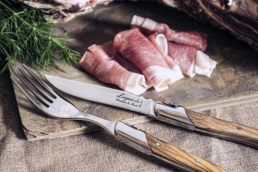 Laguiole style de vie Luxury line vorken set olijfhout - 6 stuks