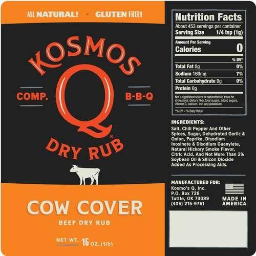 Kosmo's Q Cow cover Rub