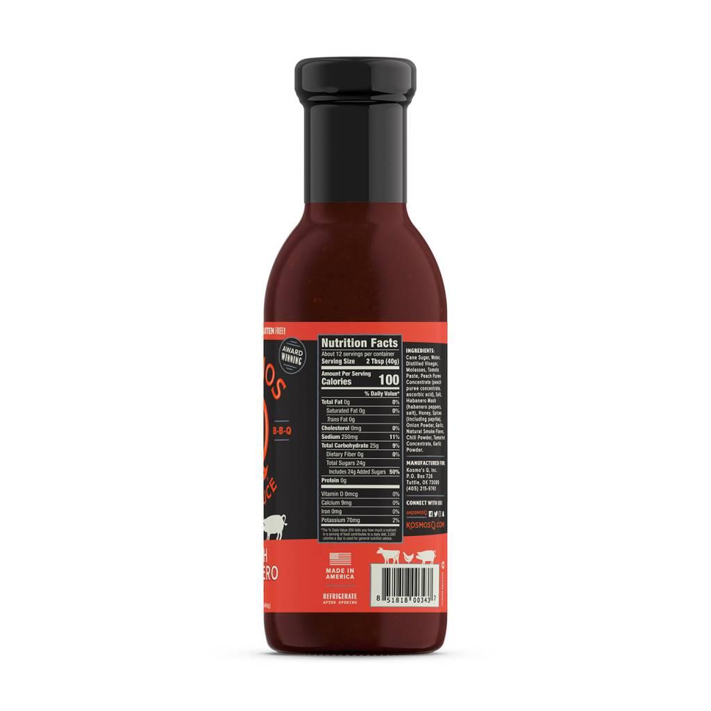 Kosmo's Q Peach Habanero BBQ Sauce
