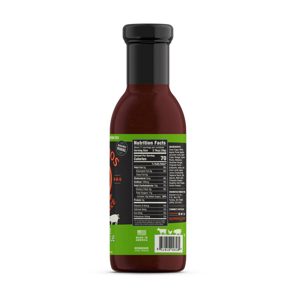 Kosmo's Q Sweet Apple Chipotle BBQ Sauce