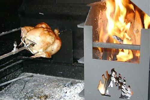 Home Fires Braai Draai spit met motor