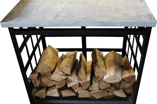 Home Fires Braai Zijtafel van staal of eikenhout